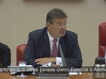 Rafael Catalá, en la Comisión de Justicia del Congreso.