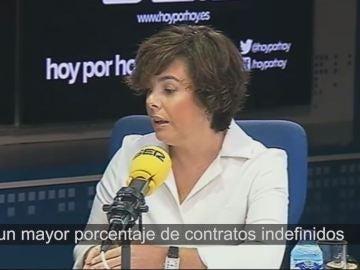 Soraya Sáenz de Santamaría, en la SER.