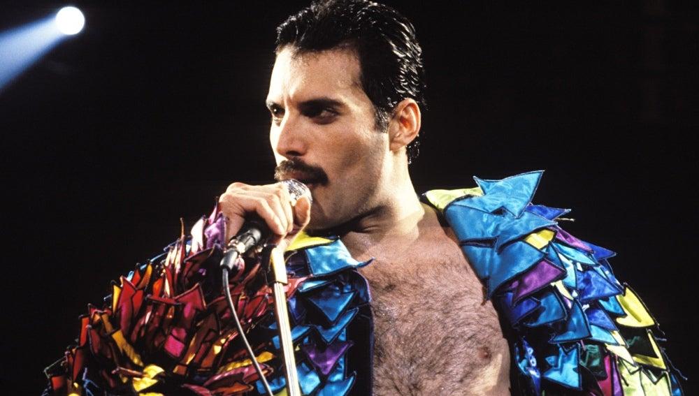 Freddie Mercury en un concierto de 'Queen'