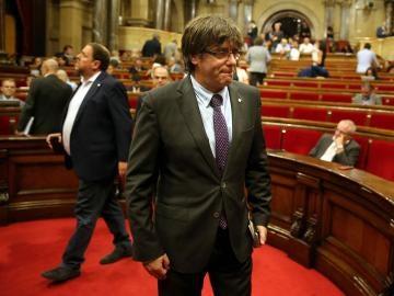 """Puigdemont ante el Tribunal Constitucional: """"Ningún tribunal suspenderá la democracia en Cataluña"""""""