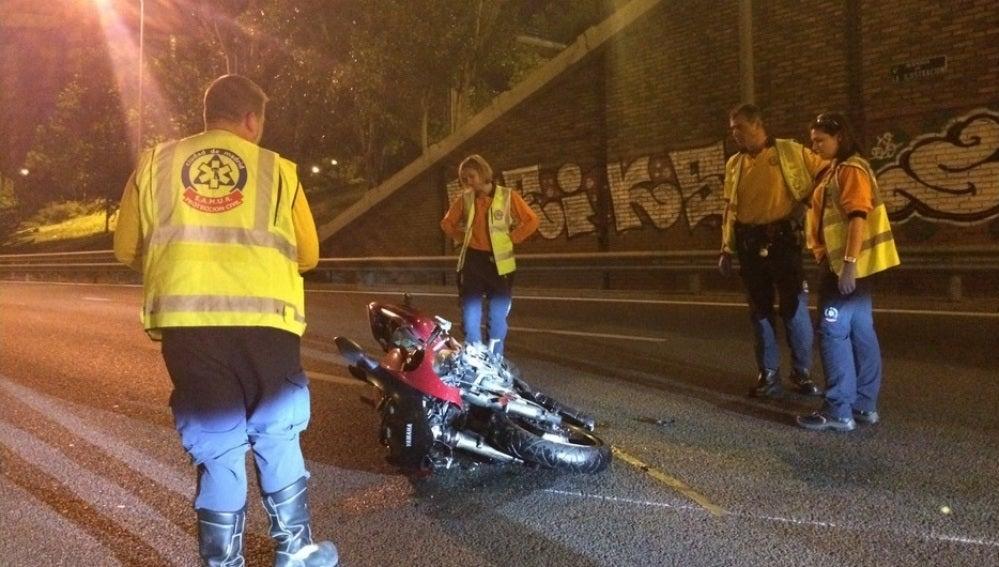 Un motorista muere tras sufrir un accidente en la M-30
