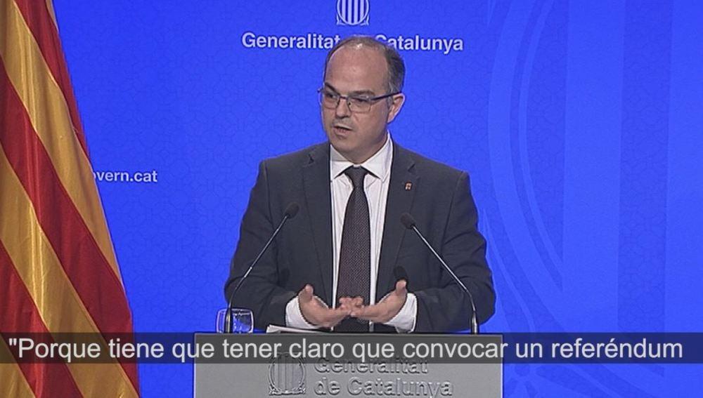 Jordi Turull, conceller de Presidencia de la Generalitat.