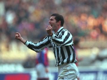 Zidane, en su primera temporada en la Juventus