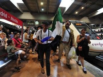 Protesta de la agrupación 'Milana Bonita' en Madrid