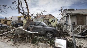 Daños ocasionados por el huracán Irma en Philipsburg, en la isla de San Martín