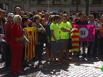 Las tres capitales vascas celebraron una manifestación prorreferendum.