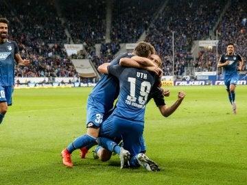 Hoffenheim celebrando un gol