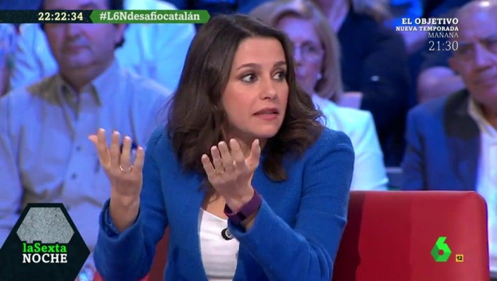 Inés Arrimadas, durante el debate