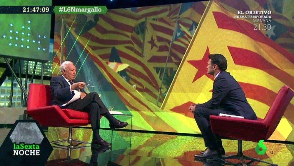 Margallo, durante su entrevista en laSexta Noche