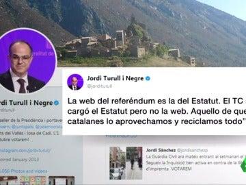 """Jordi Turull responde a Montoro: """"La web del referéndum es la misma que la del Estatut"""""""
