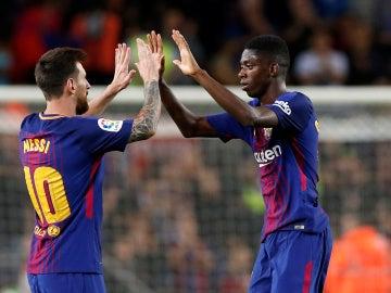 Messi con Dembelé