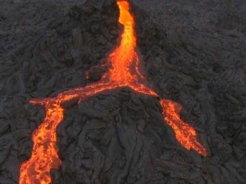 La lava del volcán Kilauea, en Hawai