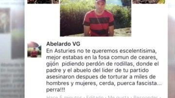 Insultos a Carmen Moriyón en Facebook