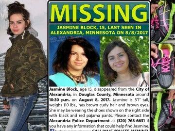 Cartel de búsqueda de Jasmine Block