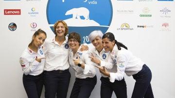 Encarnación, Esther, Ana Belén, Lorena y Micaela, que retarán al hielo, los ríos y glaciares del Ártico en la expedición Reto Pelayo Vida Polar 2017
