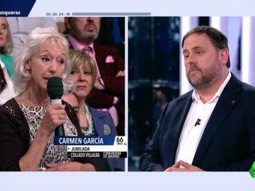 Carmen García y Oriol Junqueras