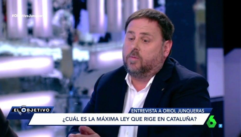 Oriol Junqueras en El Objetivo