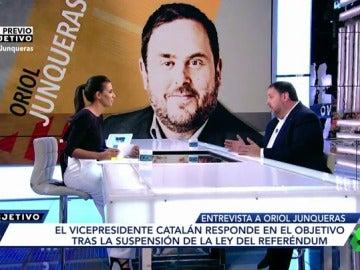 Ana Pastor y Oriol Junqueras en El Objetivo