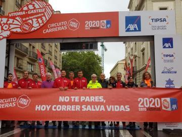 Participantes de la carera Ponte Freno en Vitoria