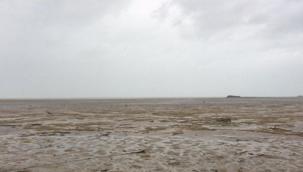 El mar de las Bahamas convertido en desierto