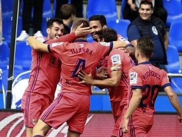 La Real Sociedad celebra un gol
