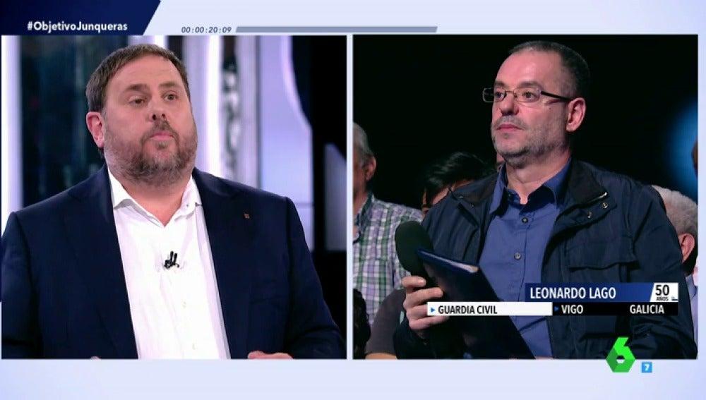 Oriol Junqueras responde a Leonardo Lago en El Objetivo