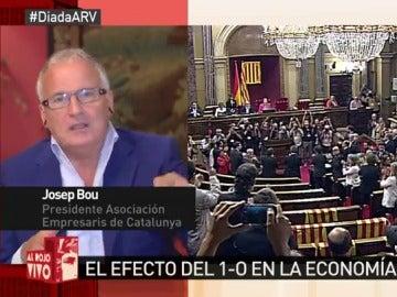 """Josep Bou, presidente de la Asociación de Empresarios de Cataluña: """"Se quiere bajar de un tren de éxito como es España"""""""