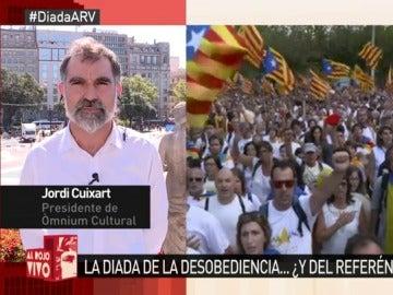 """Jordi Cuixart: """"Queremos votar, una cosa tan poco delictiva como es poner un papel  dentro de una caja de plástico"""""""
