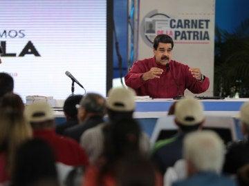 Nicolás Maduro junto a Evo Morales en un evento televisado