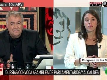 """Irene Montero: """"Ciudadanos le va a pedir al PP más leña al fuego en Cataluña"""""""