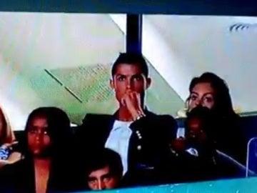 Cristiano en un partido del Sporting de Portugal
