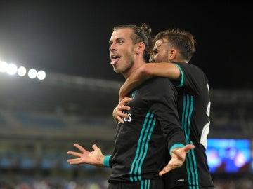 Bale celebrando el gol ante la Real Sociedad