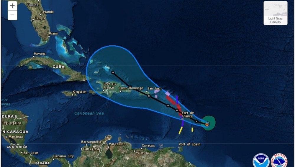 El recorrido de tres días de la tormenta tropical María que se convirtió en un huracán