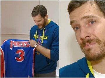Dragic, emocionado con la camiseta de Drazen Petrovic