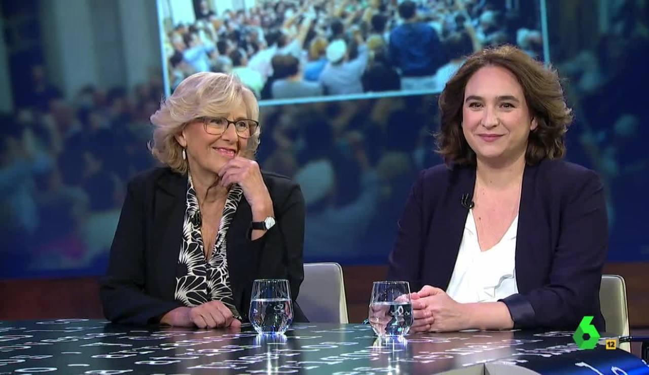 Manuela Carmena y Ada Colau en El Intermedio