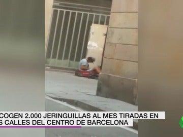 Recogen dos mil jeringuillas al mes tiradas en las calles del barrio de El Raval de Barcelona