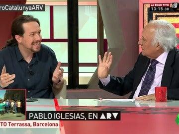 """El debate entre Pablo Iglesias y Raúl del Pozo: """"El PP es el partido que más ha violado la Constitución"""""""
