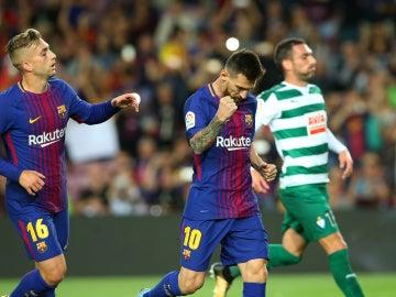 Messi celebra el 1-0 ante el Eibar