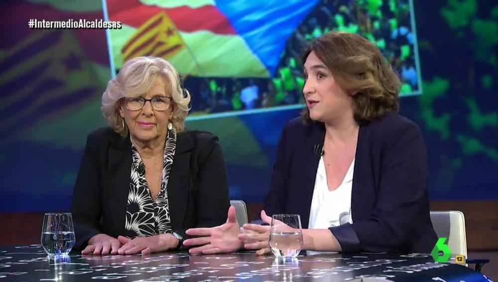 Manuela Carmena y Ada Colau, en El Intermedio