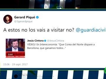 Piqué se queja a la Guardia Civil por una parodia que bromea con bombardear Barcelona