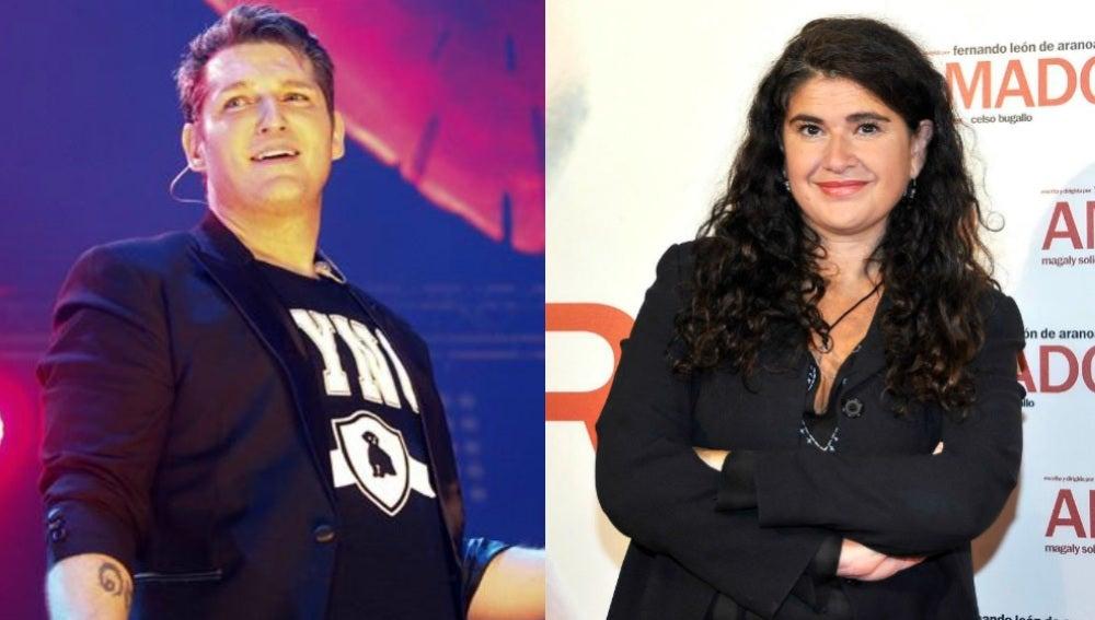 Manu Tenorio y Lucía Etxebarria