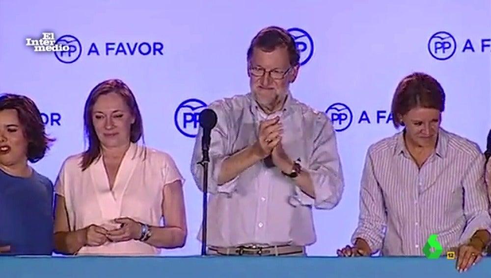 Los políticos del PP reciben en Génova a sus militantes independentistas