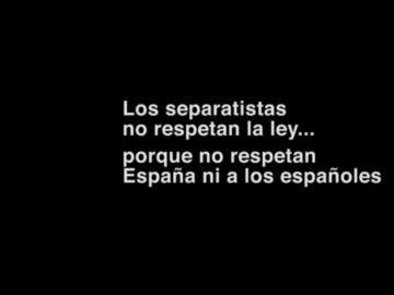 Frame del vídeo del PP sobre la 'hispanofobia'