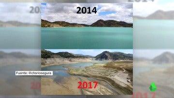 Comparativa de los niveles de agua en los embalses entre 2014 y 2017