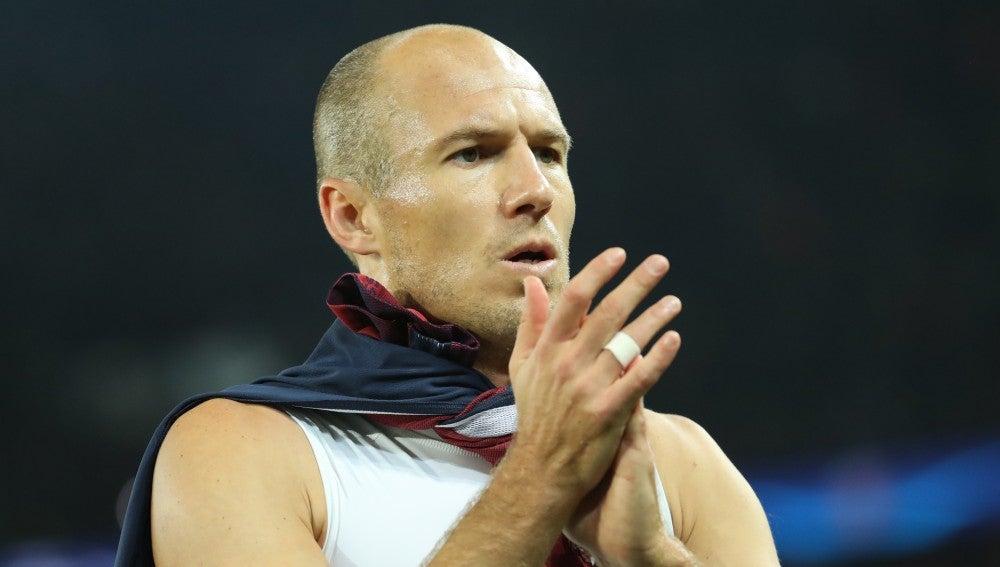 Robben, cariacontecido tras la derrota del Bayern de Múnich