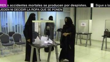 Mujeres votando en Arabia Saudí