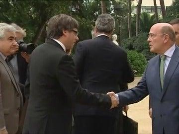 Carles Puigdemont antes de la reunión de la Junta de Seguridad
