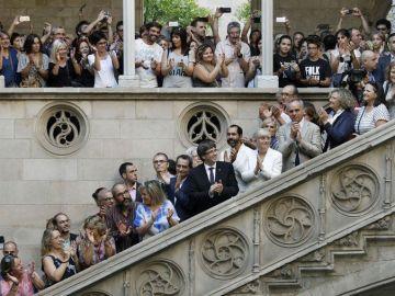 Carles Puigdemont, president de la Generalitat, en el Palau