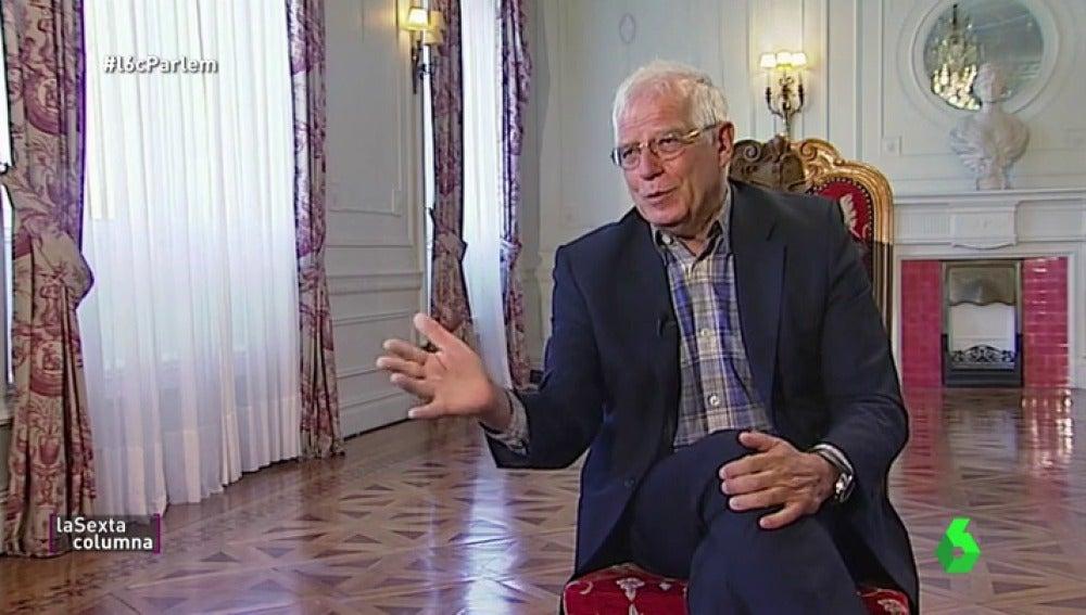 """Josep Borrell, contra las consignas falsas de Cataluña: """"El mito de los 16.000 millones es una gigantesca estafa"""""""