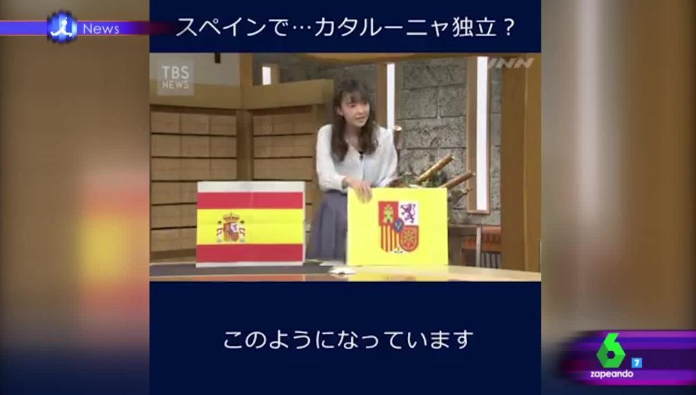 La caja 'transformer' con la que explican en Japón el desafío catalán